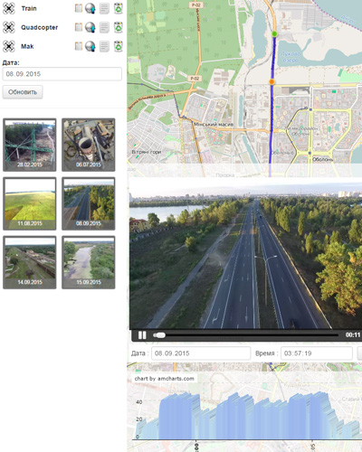 GPS navigation with video